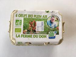Oeufs frais BIO, LE MOULIN DU DON, boîte de 6