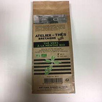 Thé vert à la menthe bio 80g ateliers des cafés