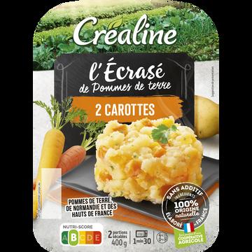 Créaline Ecrasé De Pommes De Terre Aux 2 Carottes, Crealine, Barquette 2 X 200g