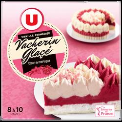 Vacherin glacé vanille framboise U, 545g