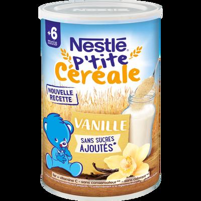 P'tite céréale à la vanille sans sucre ajouté NESTLÉ, dès 6 mois, boîte de 400g