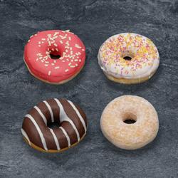 Donuts assortiment décongelé, 4 pièces, 220g