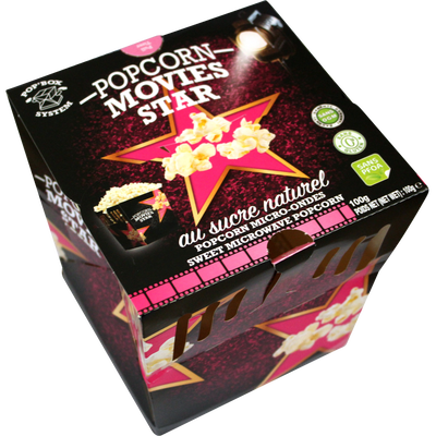 Pop'box pop corn sucré, MOVIES STAR, 100g