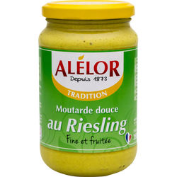 Moutarde douce au riesling ALELOR, 350g