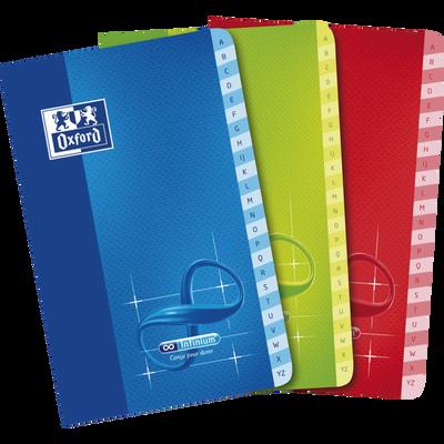 Répertoire Infinium OXFORD, agrafe, 90g, 5x5, 11x17cm, 96 pages, 1 unité