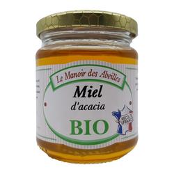 Miel d'acacia de France bio LE VERGER DES ABEILLES, pot de 250g