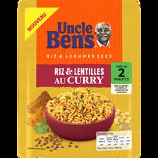 Riz et lentilles au curry 2mn UNCLE BEN'S, pochon de 220g