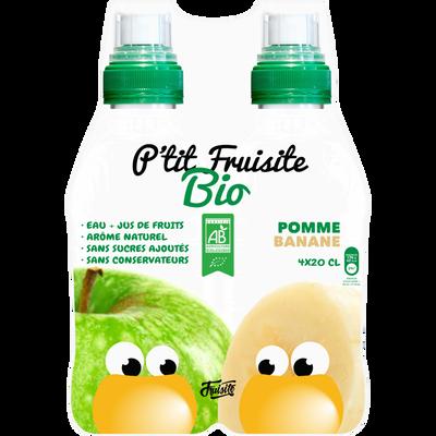 Prêt à boire pomme banane,P'TIT FRUISITE,bio pack 4x20cl