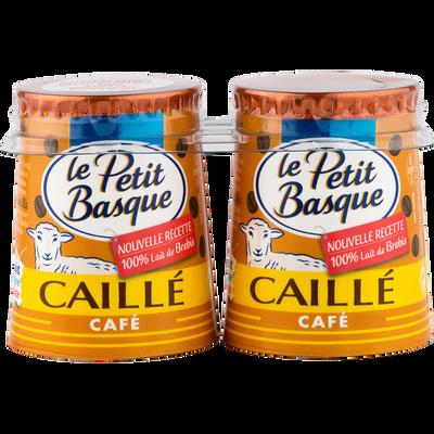 Yaourt au lait de brebis emprésuré sucré au café LE PETIT BASQUE, 2x125g