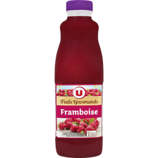 "Jus de framboise ""fruits gourmands"" U, bouteille de 1l"