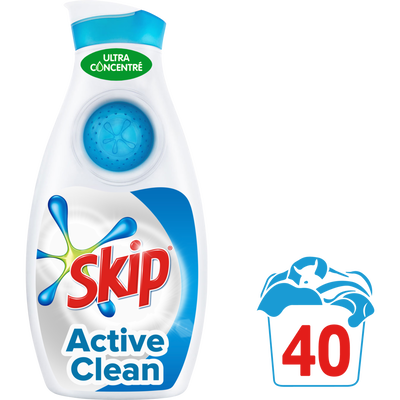 Lessive liquide SKIP Petit & Puissant Active Clean, 40 doses, 1,40l