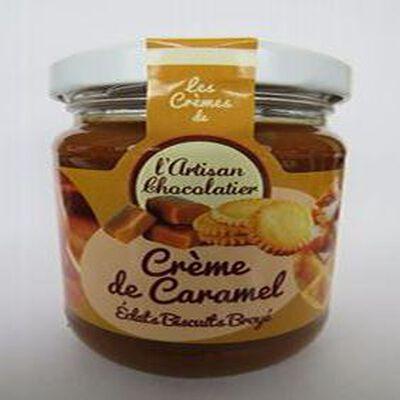 Crème de caramel aux éclats de biscuit broyé, 240gr, pot, Les crèmes de l'artisan chocolatier