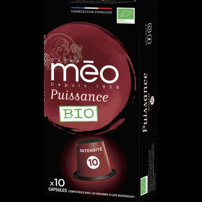 Café puissance MEO, étui de 10 capsules de 53g