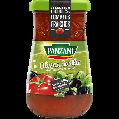Sauce olive & basilic PANZANI, flacon de 210g