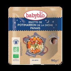 Assiette risotto de potimarron de la Drôme Panais BABYBIO, dès 12 mois, 190g