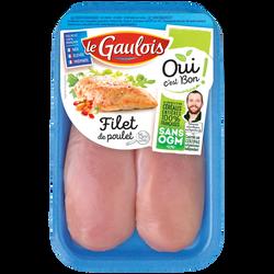 Filet poulet blanc, OCB LE GAULOIS, France, 2 pièces