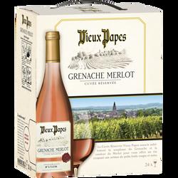 Vin Communauté Européenne rose VIEUX PAPES BIB 3L