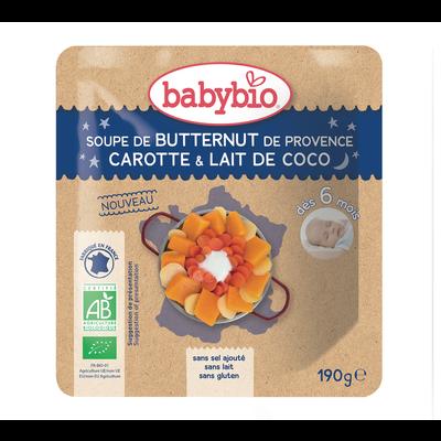 Poche Bonne Nuit Soupe Butternut Carotte Coco BABYBIO, 190g
