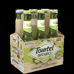 Bière sans alcool botanics citron et fleur de sureau TOURTEL, 0°, 6x27,5cl
