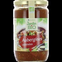 Aubergines cuisinées JARDIN BIO,  bocal verre de 650g
