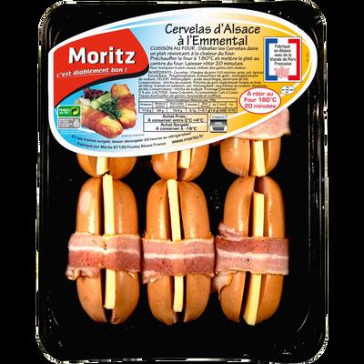 Cervelas Alsacien, MORITZ, France, 6 pièces, barquette, 660g