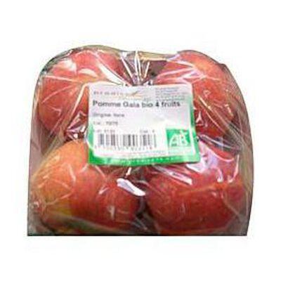 Pommes royal gala bio PRODIVA, 4 fruits, 600g