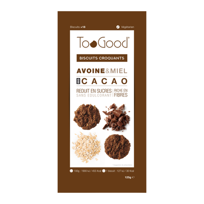 TOOGOOD biscuits cacao 18 biscuits 125g