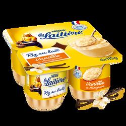Riz au lait saveur vanille LA LAITIERE 4x115g 460g