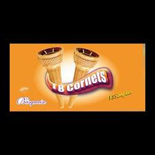 Cornets simples LA BASQUAISE, 18 paquets, 58g