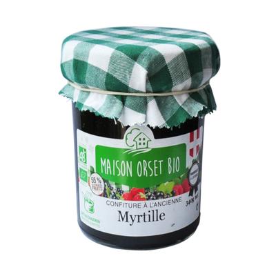 Confiture de myrtille bio MAISON ORSET BIO, pot de 340g