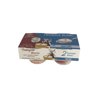 Fromage blanc nature FROMAGERIE MAURICE ,x2 200g
