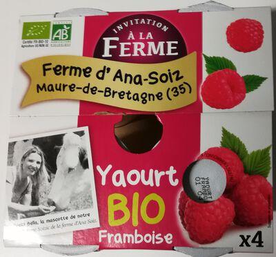 yaourts à la framboise bio 4x125gr Le p'tit gallo