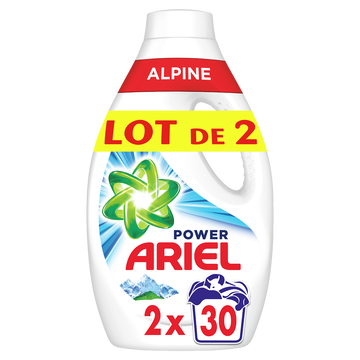 Ariel Lessive Liquide Alpine Ariel 2x30doses
