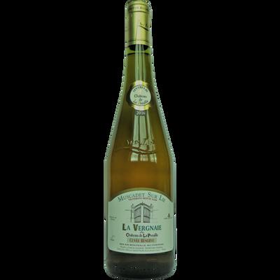 Muscadet sur lie AOP vin blanc La Vergnaie du château de la Preuille,bouteille de 75cl