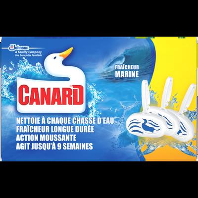 Blocs WC parfum marine CANARD WC, étui de 3