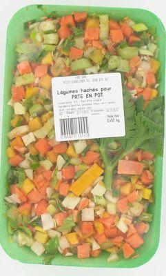 Légumes pour Paté en pot YODI, barquette de 450g