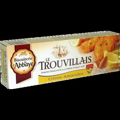 Sablés  Le Trouvillais citron amandes BISCUITERIE DE L'ABBAYE, étui de150g