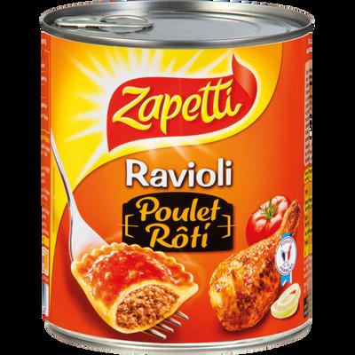 Ravioli poulet rôti, ZAPETTI, boîte de 4/4, 800g