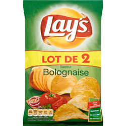 Chips saveur bolognaise LAY'S, x2 soit 260g