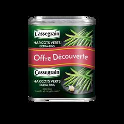 Haricots verts extra-fins cueillis et rangés main CASSEGRAIN, 2x440g