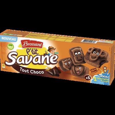 P'tit savane tout chocolat, BROSSARD, 5x150g