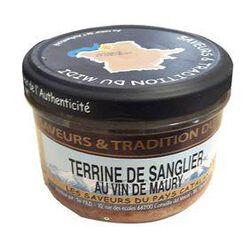 Terrine de Sanglier au Vin de Maury, Bocal de 190g, SAVEURS & TRADITION DU MIDI