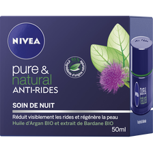 Soin de nuit anti-rides Pure & Natural NIVEA VISAGE, 50ml