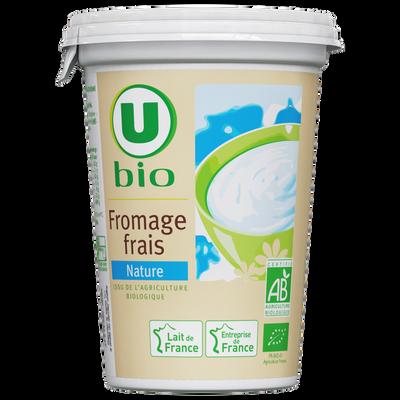 Fromage frais nature lait pasteurisé Bio U, 500g