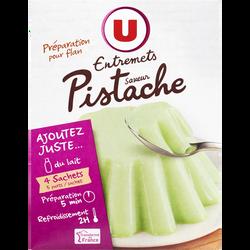 Les entremets préparation pour flan pistache U, 4 doses, 260g