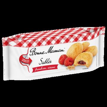 Bonne Maman Sablés Au Sésame Et À La Framboise, Bonne Maman, Paquet De 150g