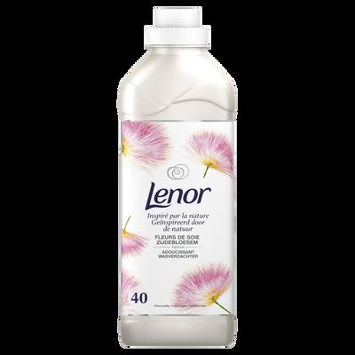 Assouplissant concentré inspired by nature fleurs de soie LENOR, 40 doses de 1l