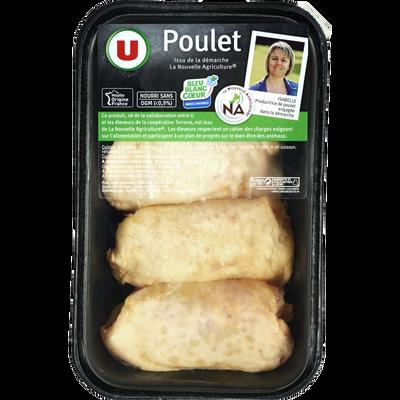 Haut cuisse poulet jaune déjointé, U, France, 4 pièces