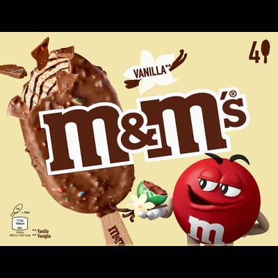 Bâtonnets glacés à la vanille MM'S, x4 soit 244g