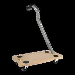 Plateau à roulettes avec poignées en mdf 58x29cm